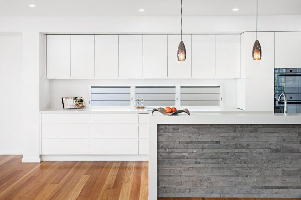 Bluestone kitchen feature