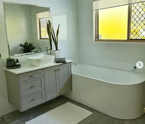 bathroom renovation with VJ walls 2