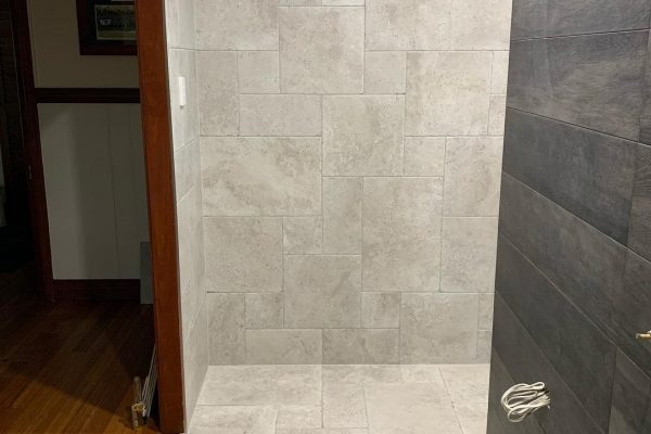 bathroom renovation with french pattern tiles 2