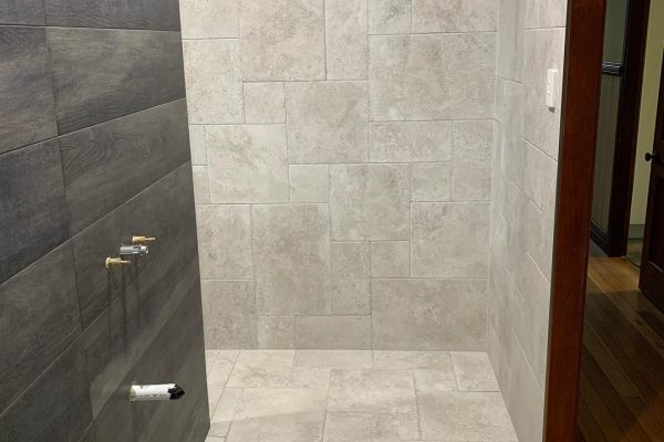 bathroom renovation with french pattern tiles 3